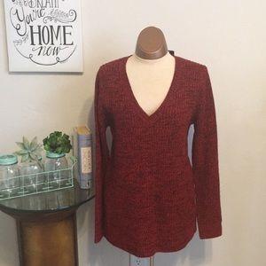 Torrid Marled V Neck Sweater Tunic